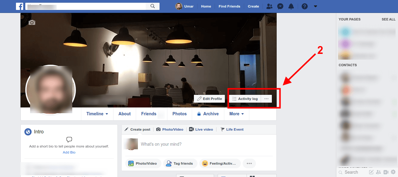 Step 1 - how to see your post on Facebook