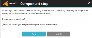 how to turn off avast antivirus