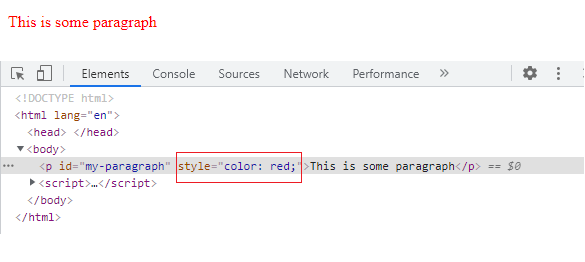 How to change CSS property using Javascript