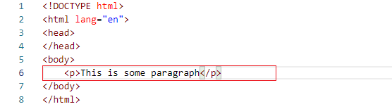Add a paragraph tag and text