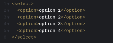how to select multiple options from a drop down list in html
