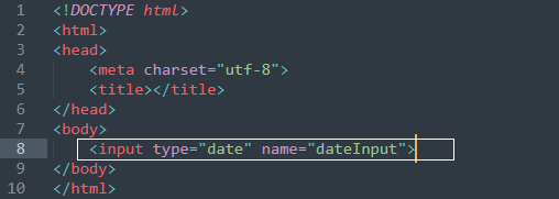 How to set current date in input type date in html